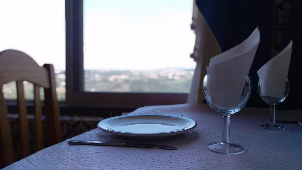 Some of the best views in Europe were at our dinner tables