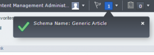 Name of Schema in Message Center